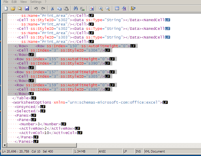 xml file screenshot
