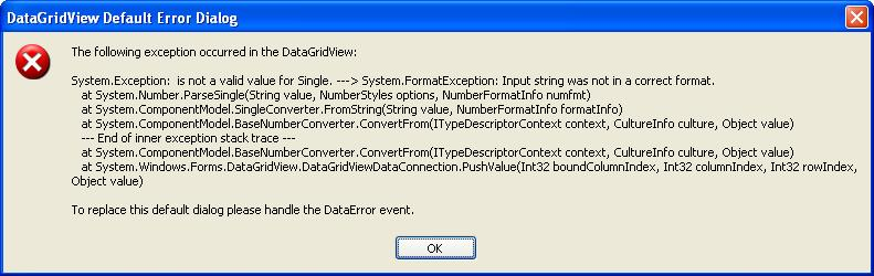Exception error