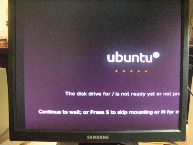 just sits there - ubuntu