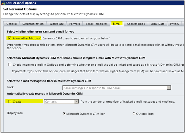 Dynamics CRM Screen capture