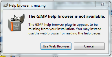 The GIMP Help Browser Is Missing Window Message