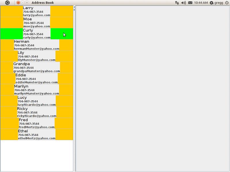 Screenshot of non transparent JLabels.