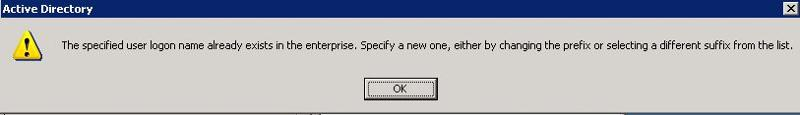 User already exist error message