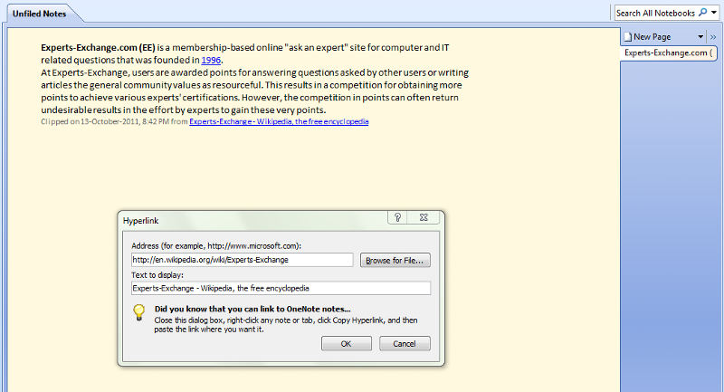 OneNote Clipping Using Clip To OneNote Add-On Extension For Firefox No. 2