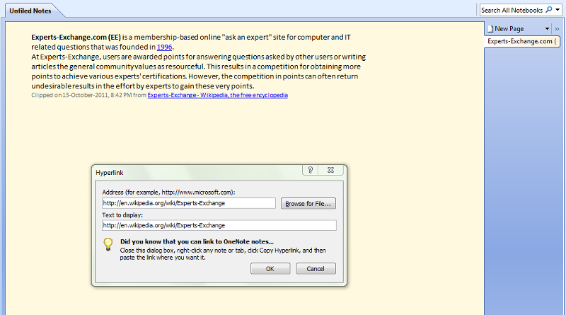 OneNote Clipping Using Clip To OneNote Add-On Extension For Firefox No. 3