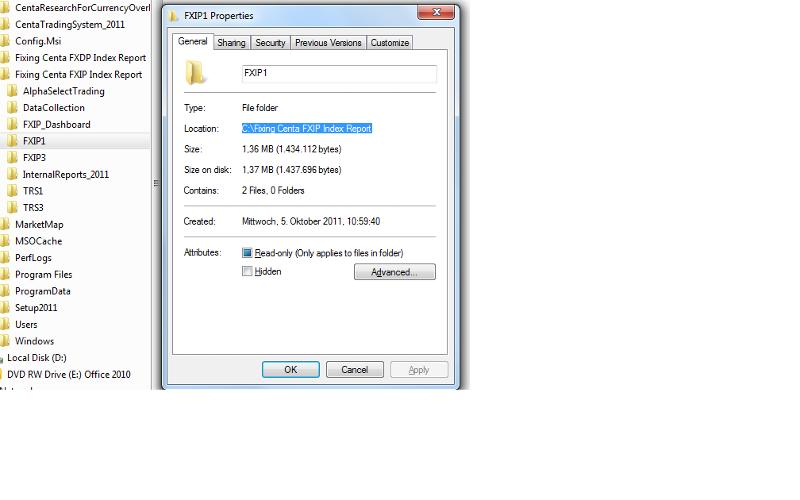 Folder description