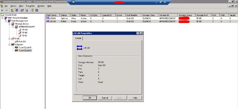 Navisphere Client Error