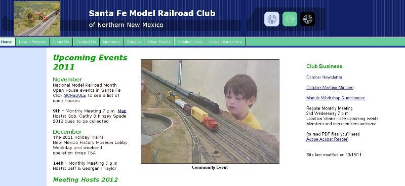 Club home page