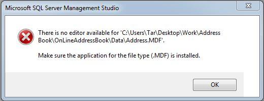 Error in SQL