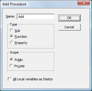 Create Add Method