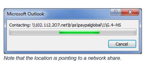 PayPal error message