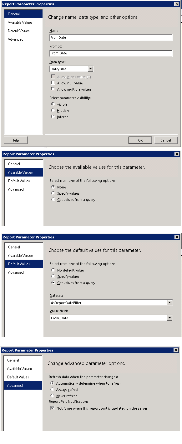 VB NET - ReportViewer Passing Parameters