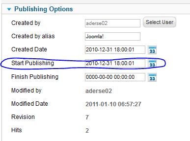Publishing Options