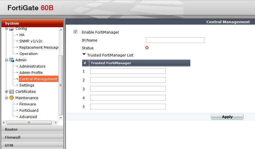 Backup Fortigate 60B firewall configuration