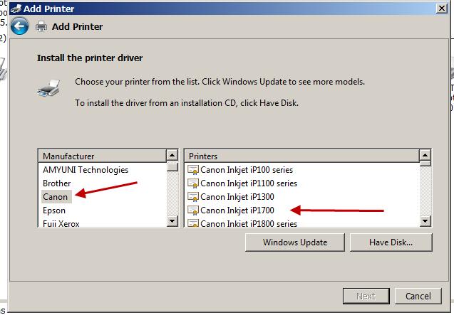 Windows7-Canon-Printer