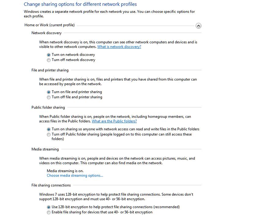 How do I set up a Windows 7 Home network via vbscript
