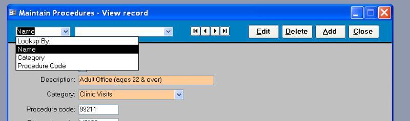 control panel lookup type