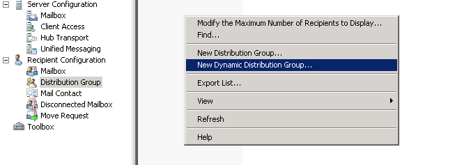 New Dynamic Distribution Group