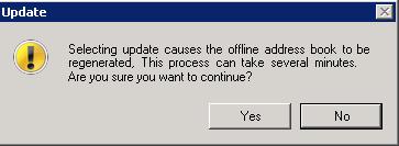 Update Warning