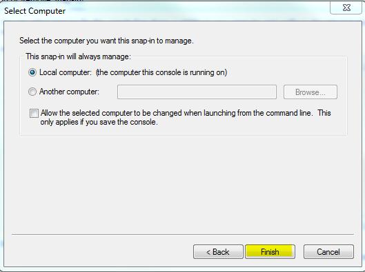 Select Computer Window