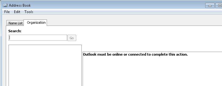 outlook 2010 error