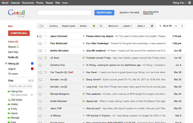 gmail new looks