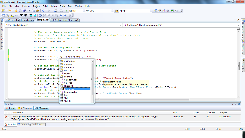ASP NET C# 3 5 :- Ecel File Creation Using OfficeOpenXml