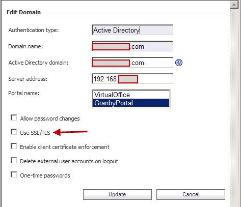 How to activate SSL/TSL LDAP signing on SonicWALL SSL-VPN?