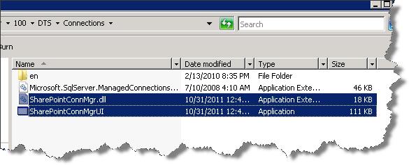 Integration Services Folder