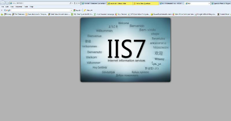 IIS intro page