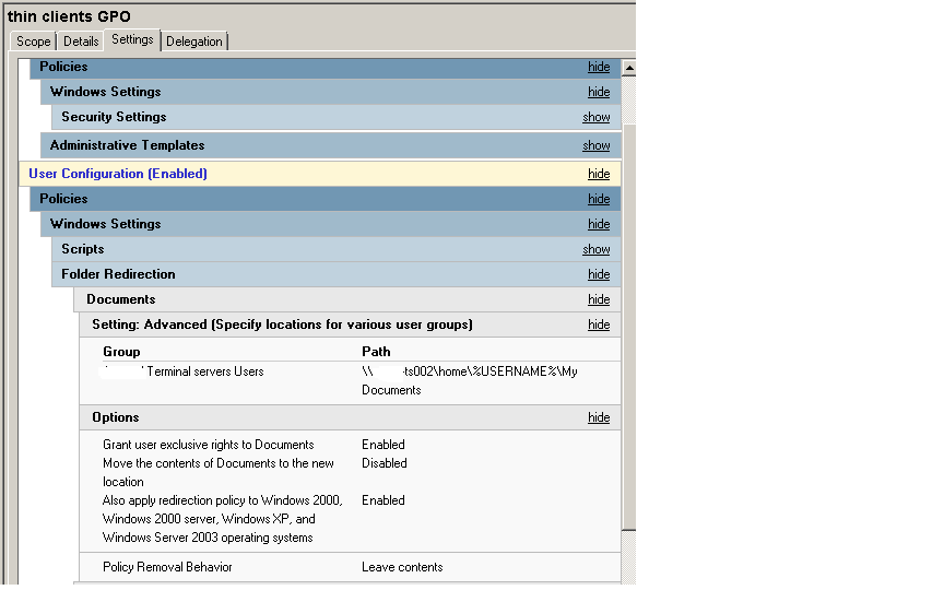 SOLUTION] folder redirection error event 502