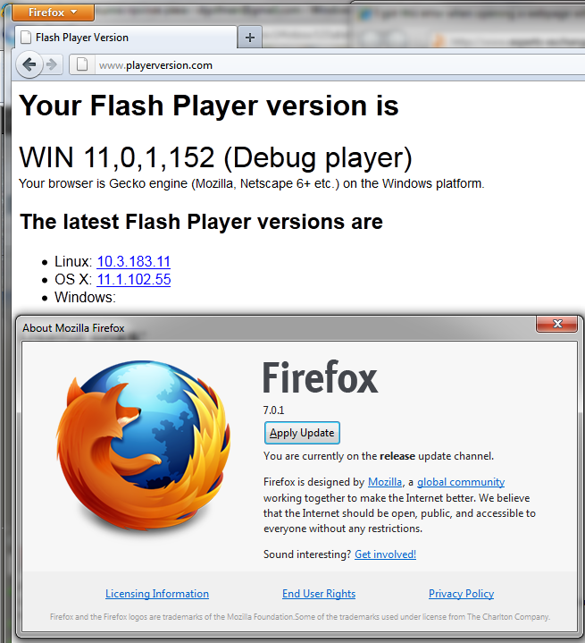 I got this error when opening a webpage with Firefox