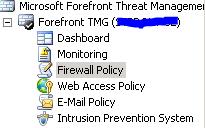 TMG - Firewall Policy Navigation