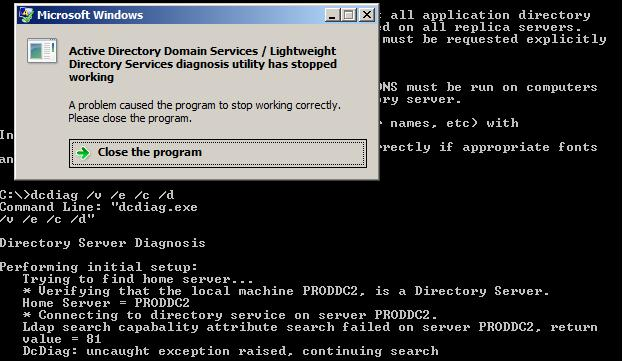 SOLUTION] WIndows Server 2008 DC stopped functioning as AD