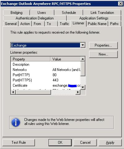 TMG - Outlook Anywhere Publishing Rule - Listener Tab