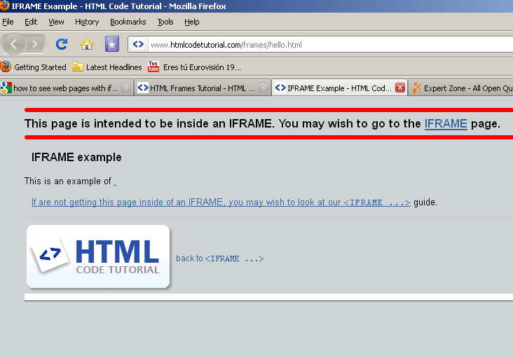 SOLUTION] get html code out of iframe tag