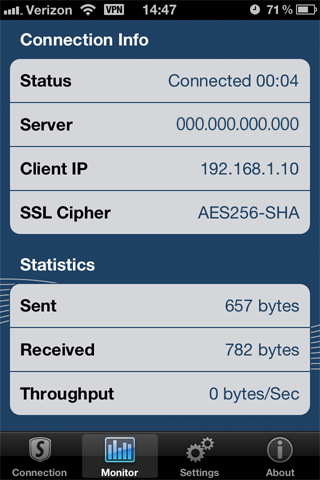 SonicWALL SSL VPN application for iPhone/iPad/iPod Touch