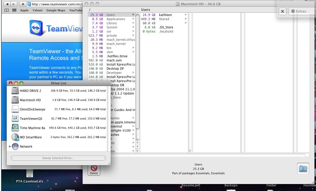What's taking up space on OSX?