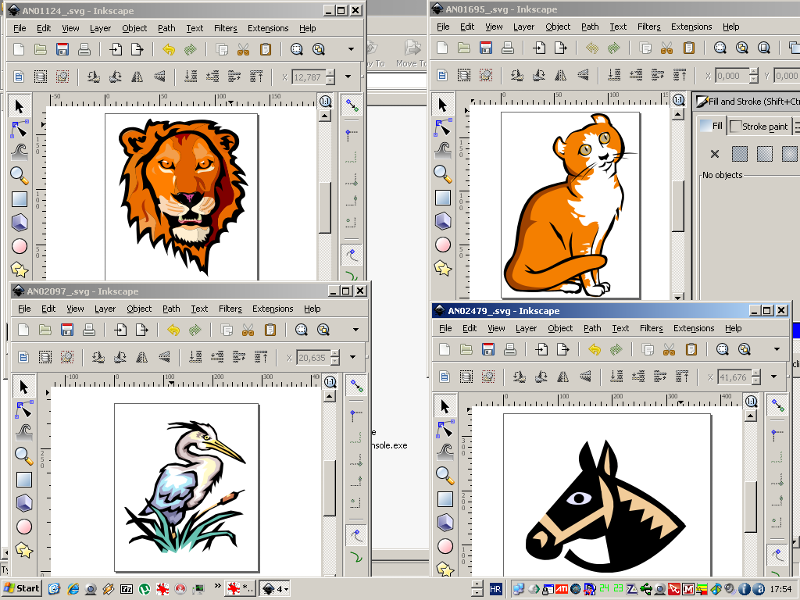 SVG files opened with Inkscape