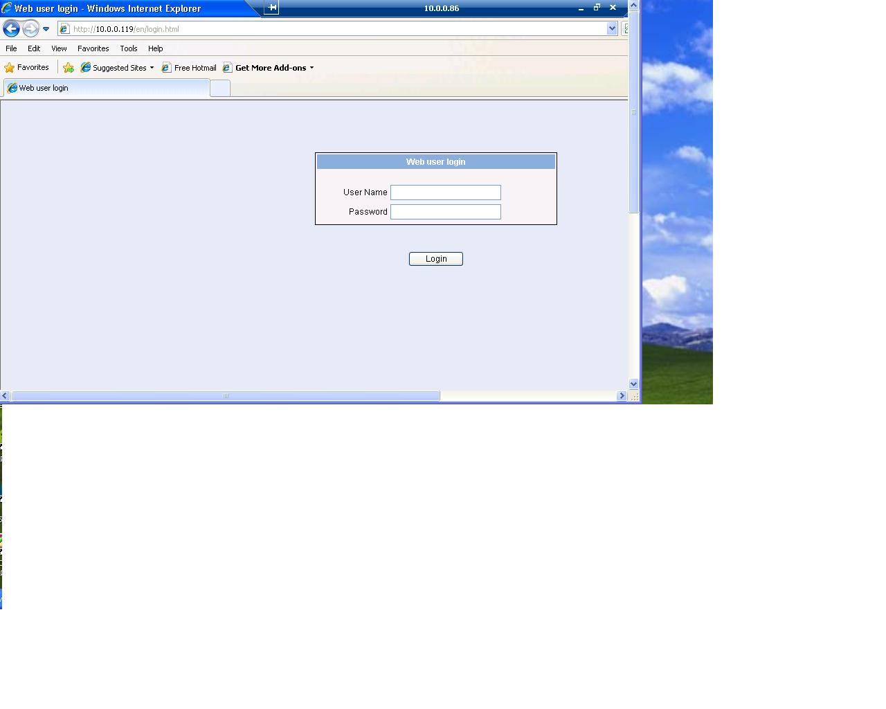 Can't log onto Web interface of HP switch!