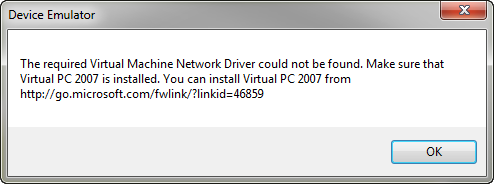 Still  vpc network driver could not be found