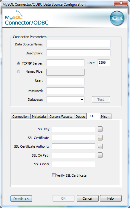How to use ODBC to connect to a MySQL Server on Amazon Web Service