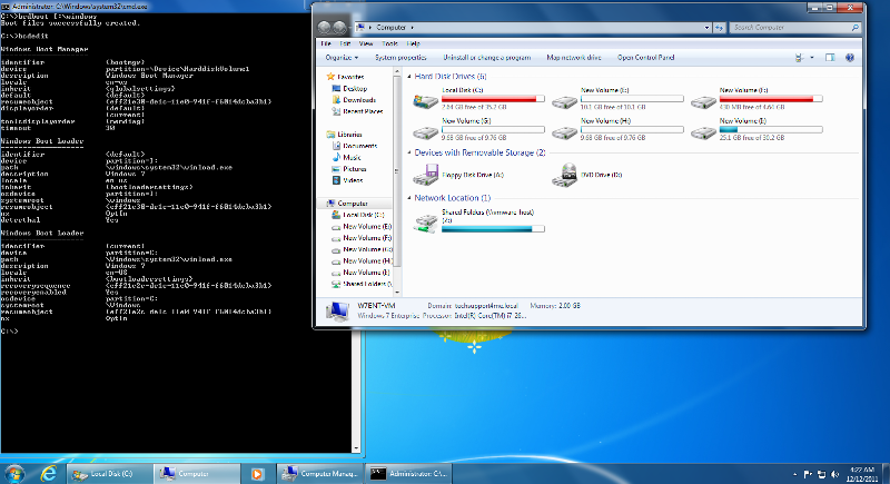 Lets see if I can boot to the second disk in the 4th Primary Partition