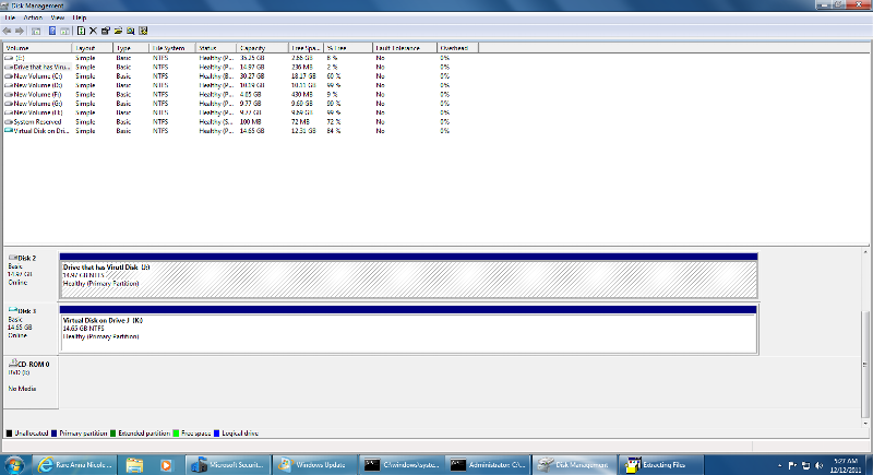 first a bit of setup to create the virtual disk and get it ready for installation