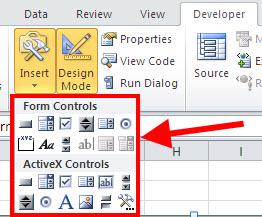 Excel 2010 VBA - Form Controls vs  ACTIVEX Controls