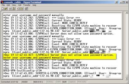 server no pass error