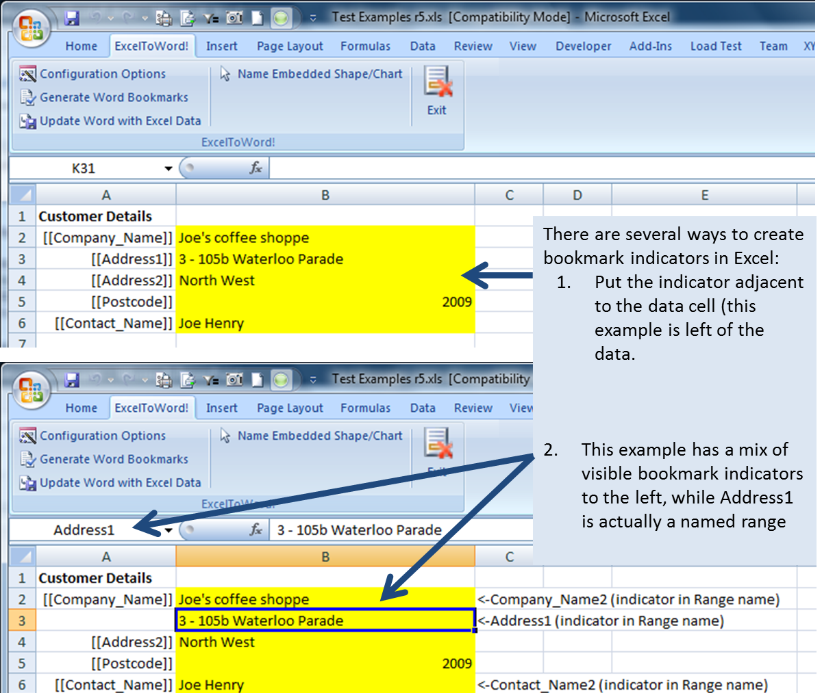 figure 4 creating bookmark indicators in excel - 55 How Copy Excel Sheet Into Word Relevant
