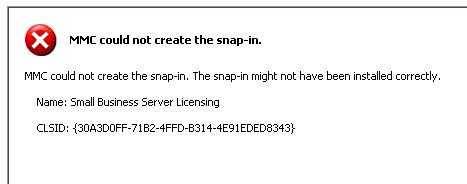 SBS 2003 - adding license error
