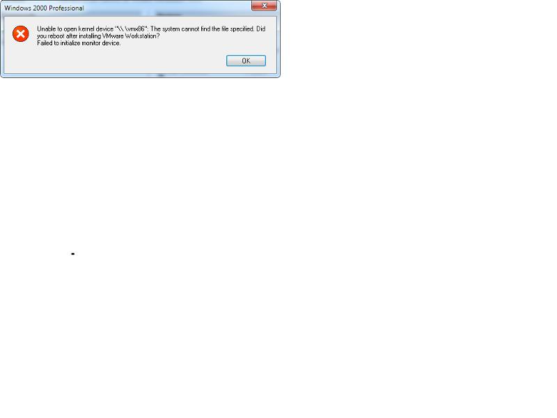 VMWare error pic