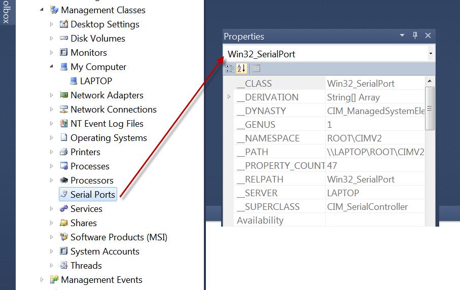 Get COM-port description in Device Manger with